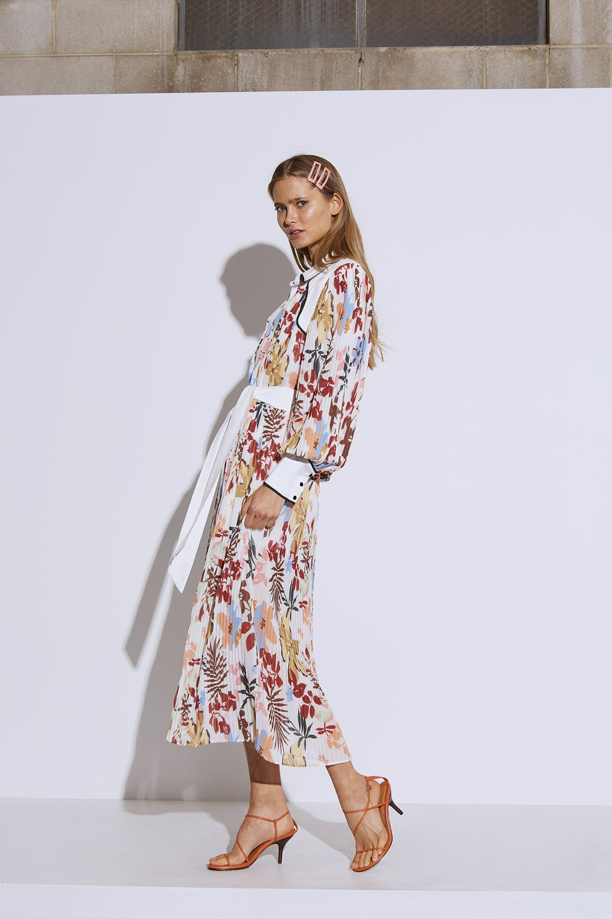 WITH OR WITHOUT DRESS ivory abstract floral