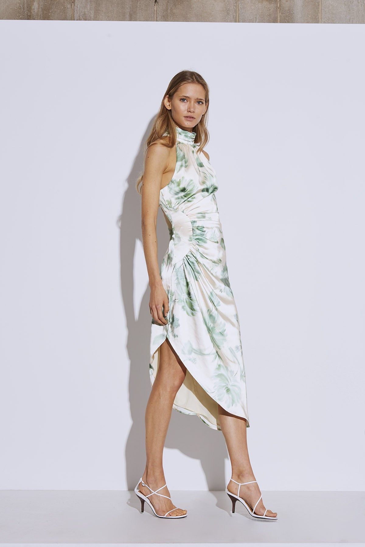 IN BLOOM DRESS cream washed floral