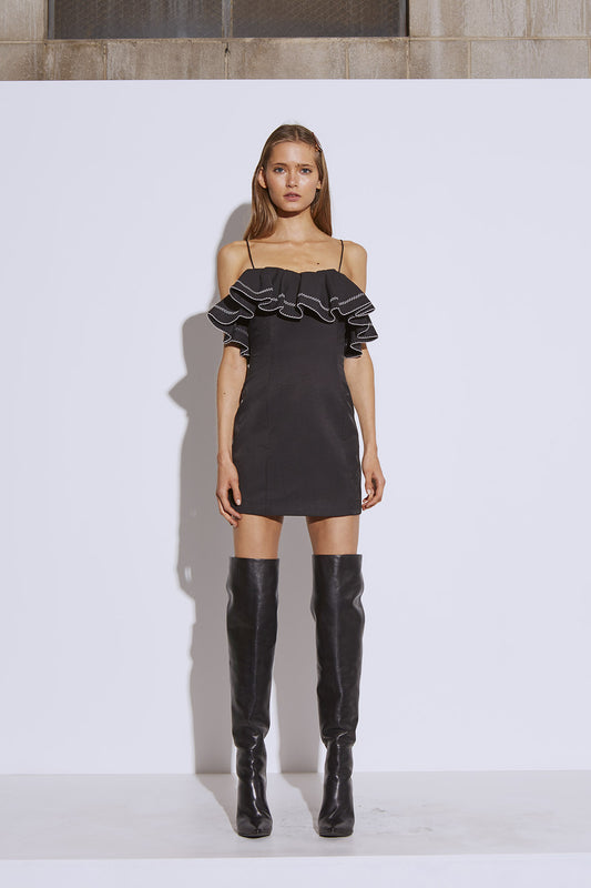 AFFINITY MINI DRESS black
