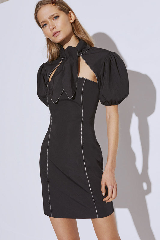 ORIGIN SHORT SLEEVE DRESS black