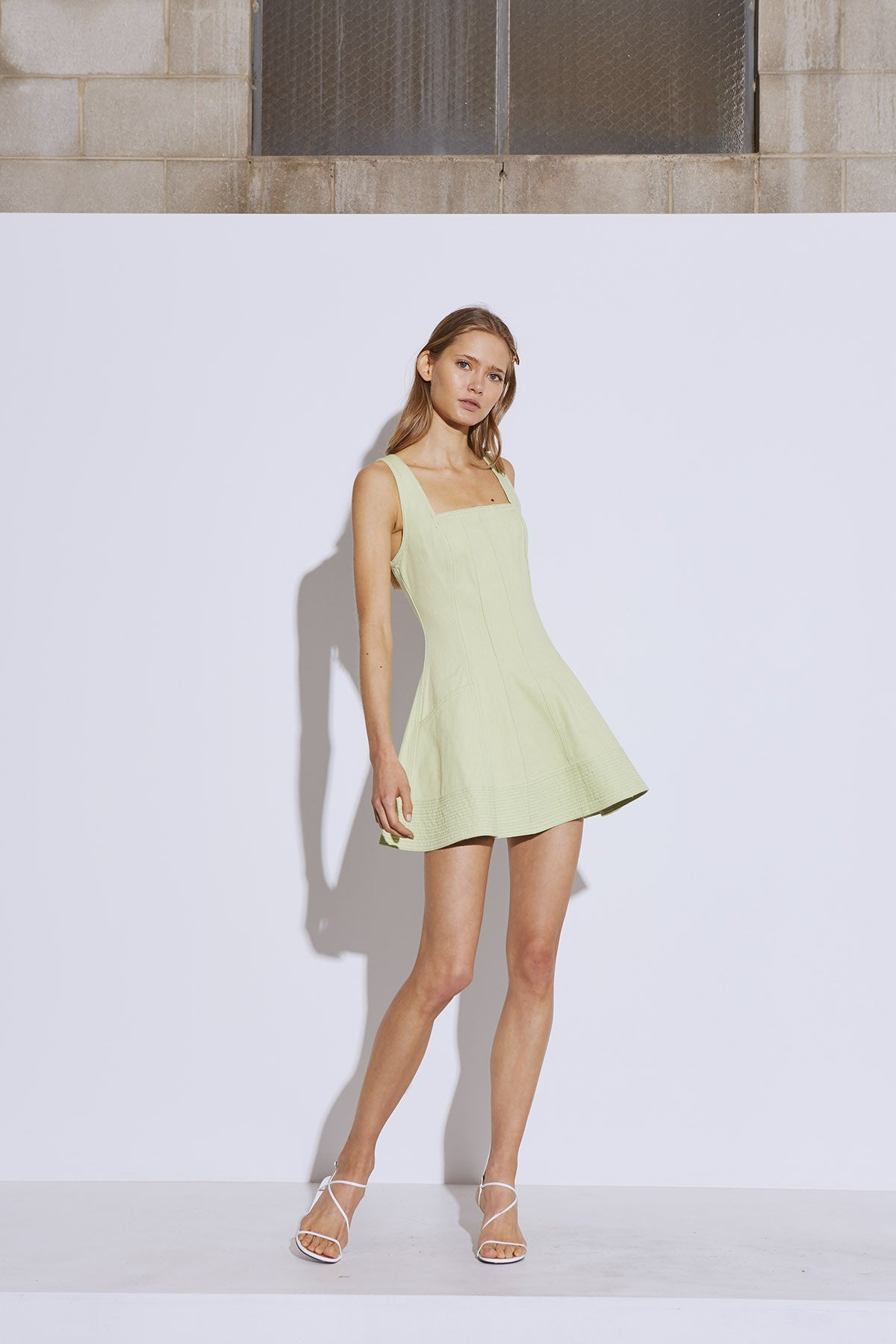 BETWEEN THE LINES DRESS lime