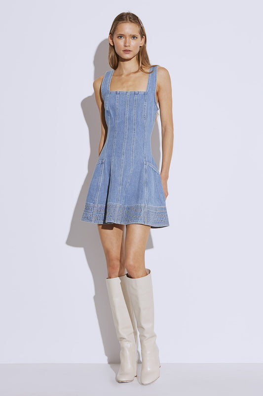 BETWEEN THE LINES DRESS blue denim