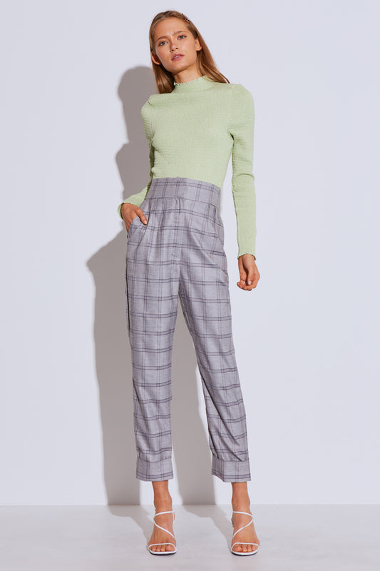 LIGHT ON PANT grey check