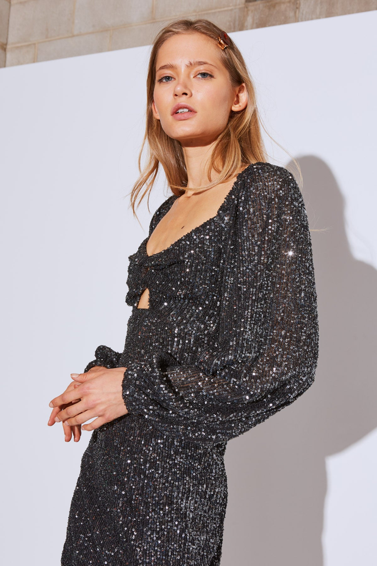 LUSTRE MINI DRESS black sequin