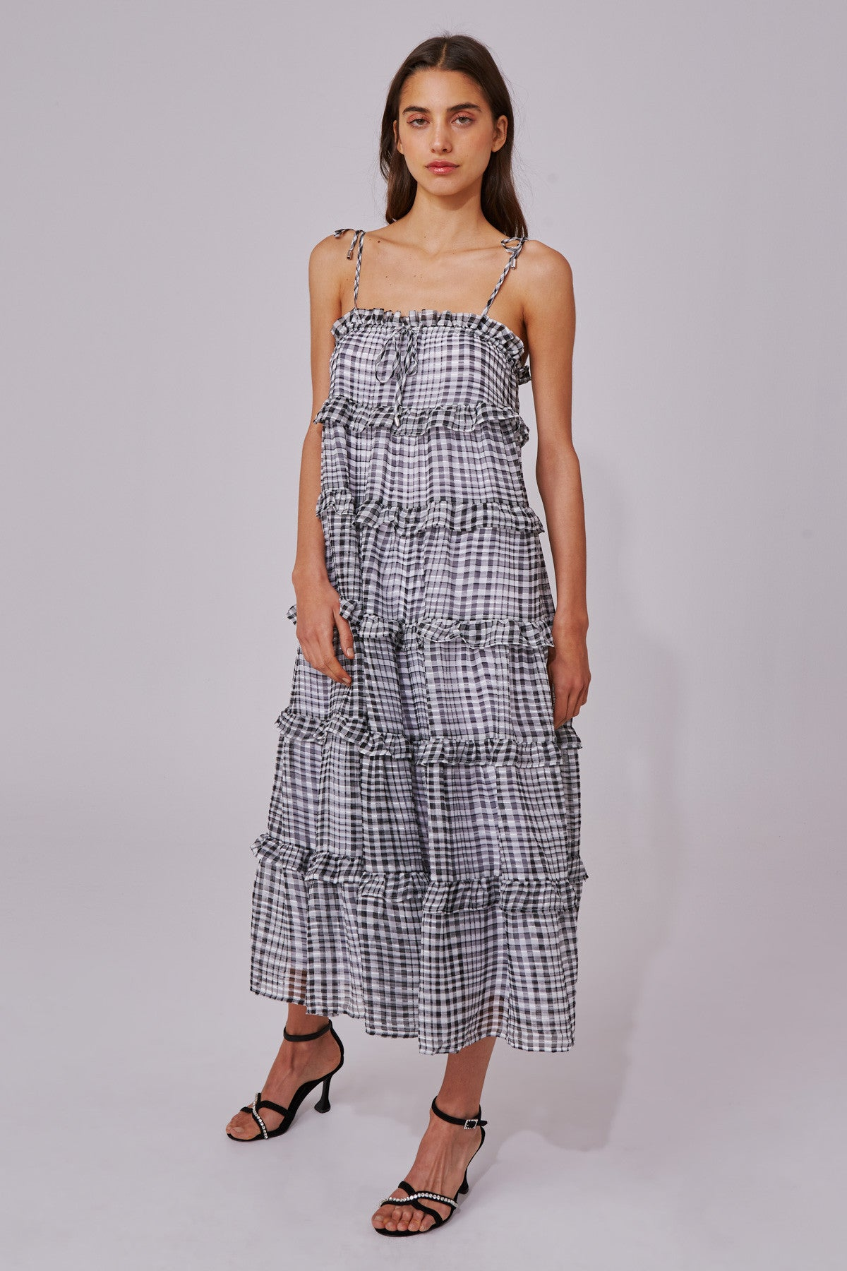 STEALING SUNSHINE DRESS black check