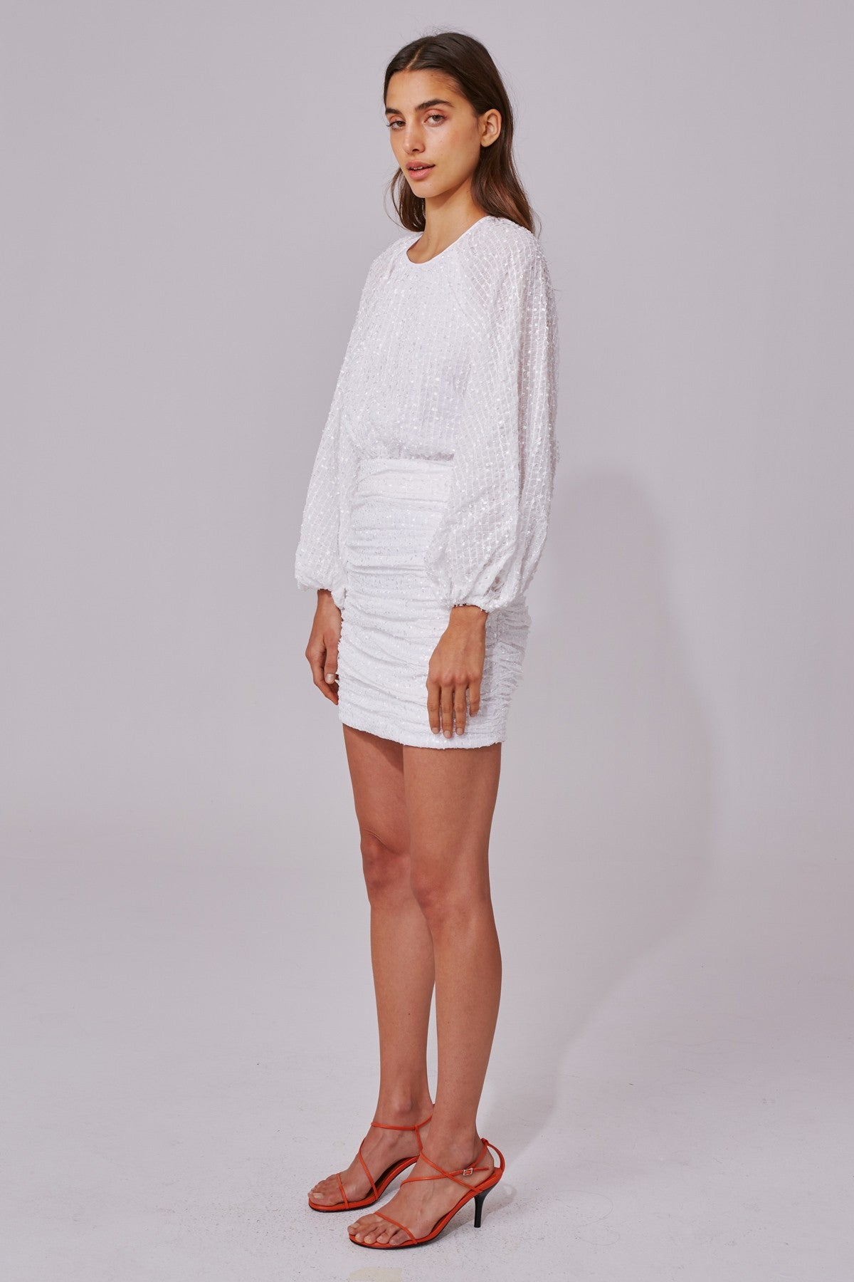 EVERYTHING GOES LONG SLEEVE DRESS ivory