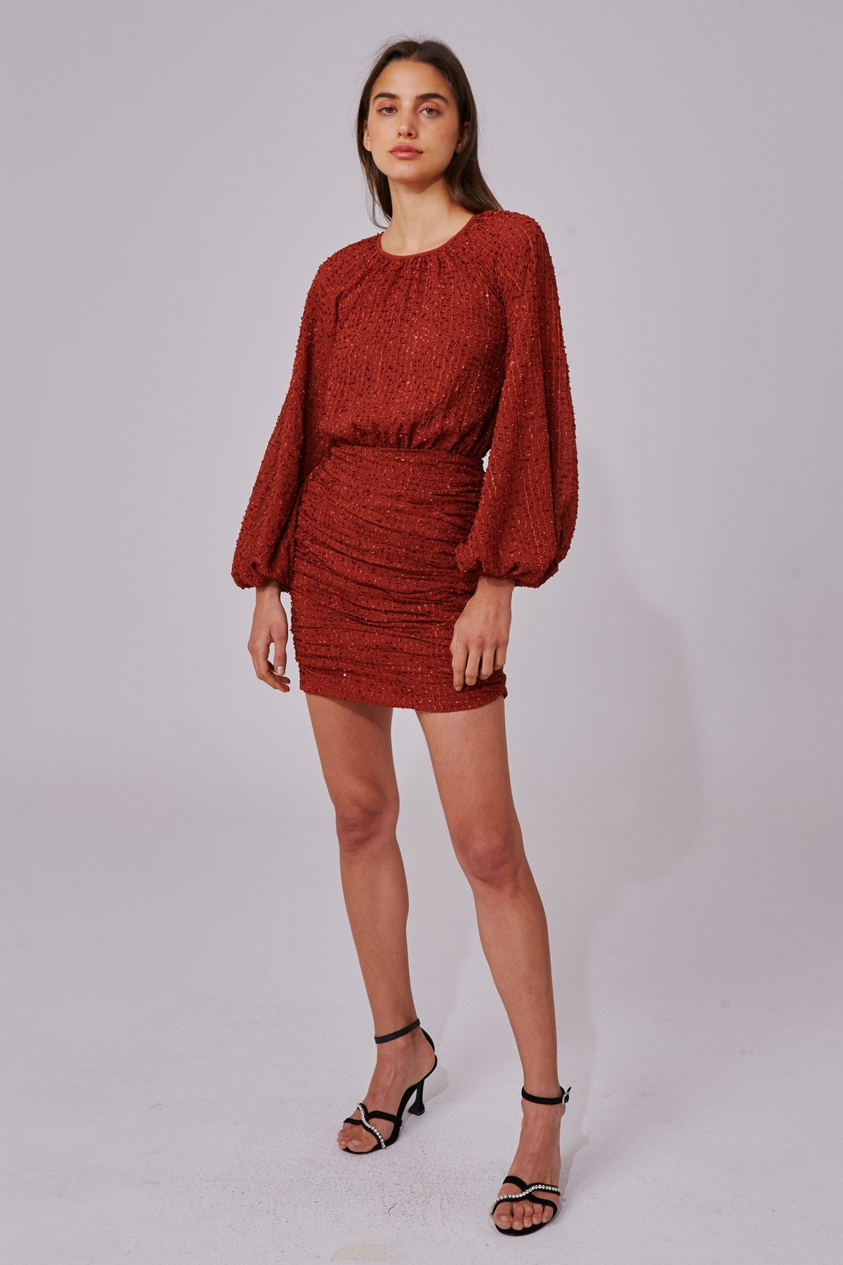 EVERYTHING GOES LONG SLEEVE DRESS copper