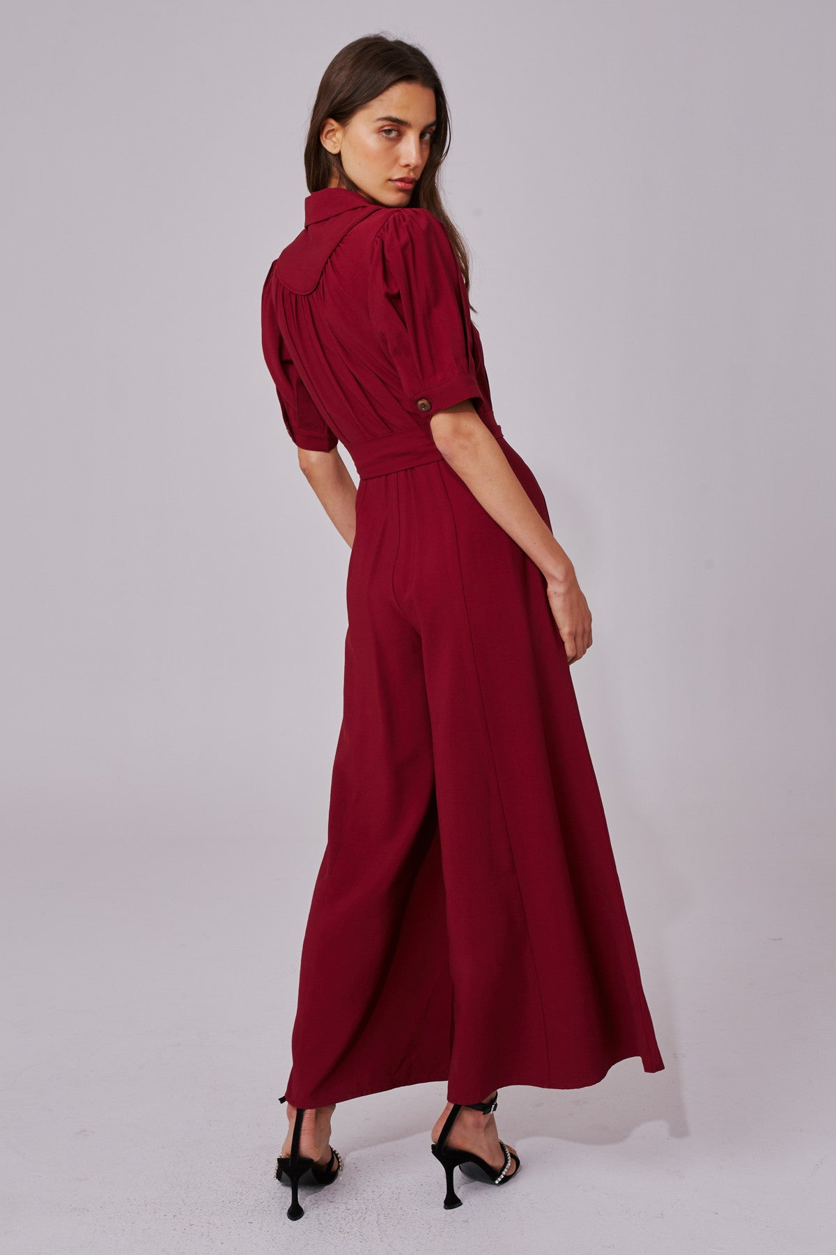 NEW PLACES JUMPSUIT berry