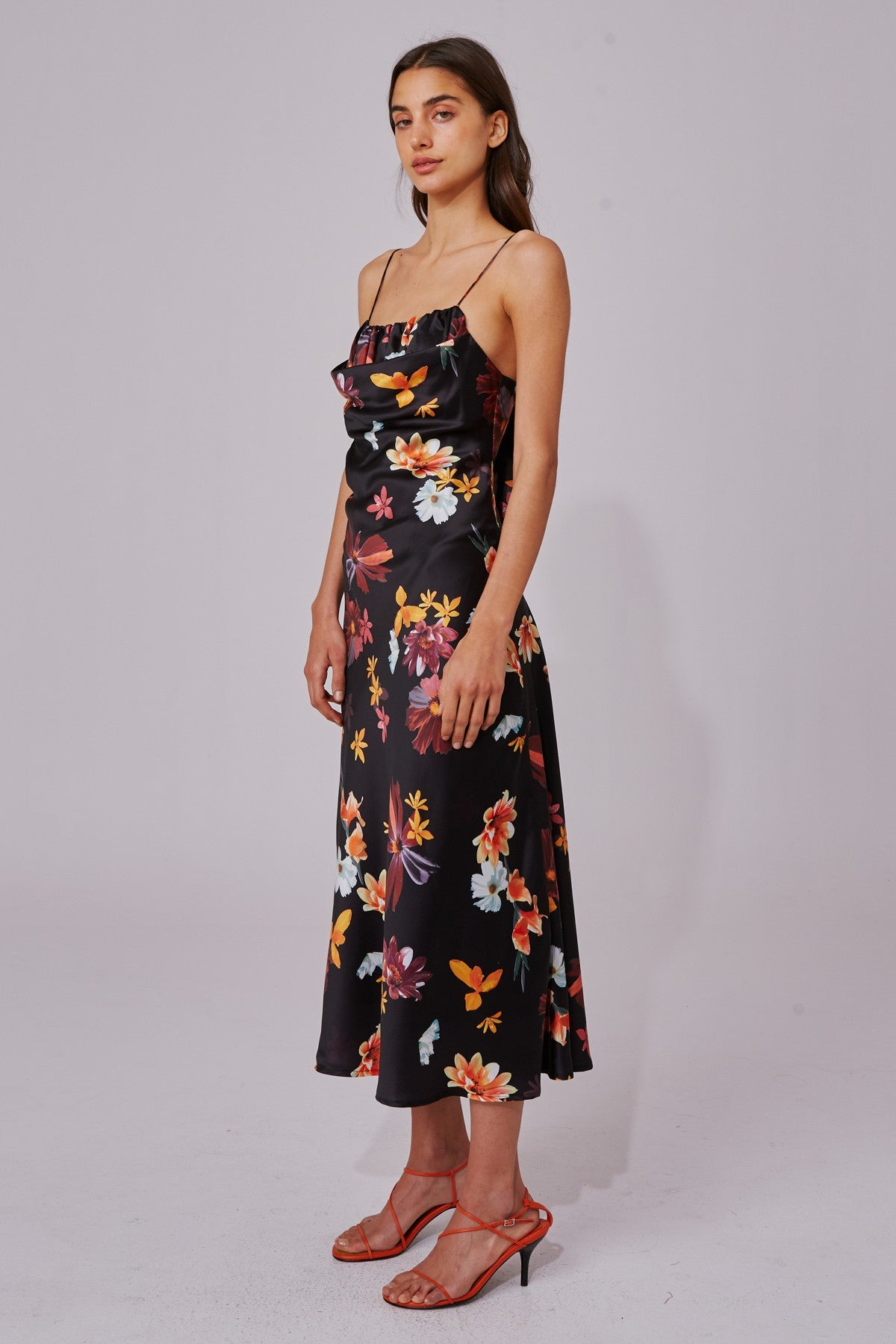 OBSESSIONS DRESS black floral