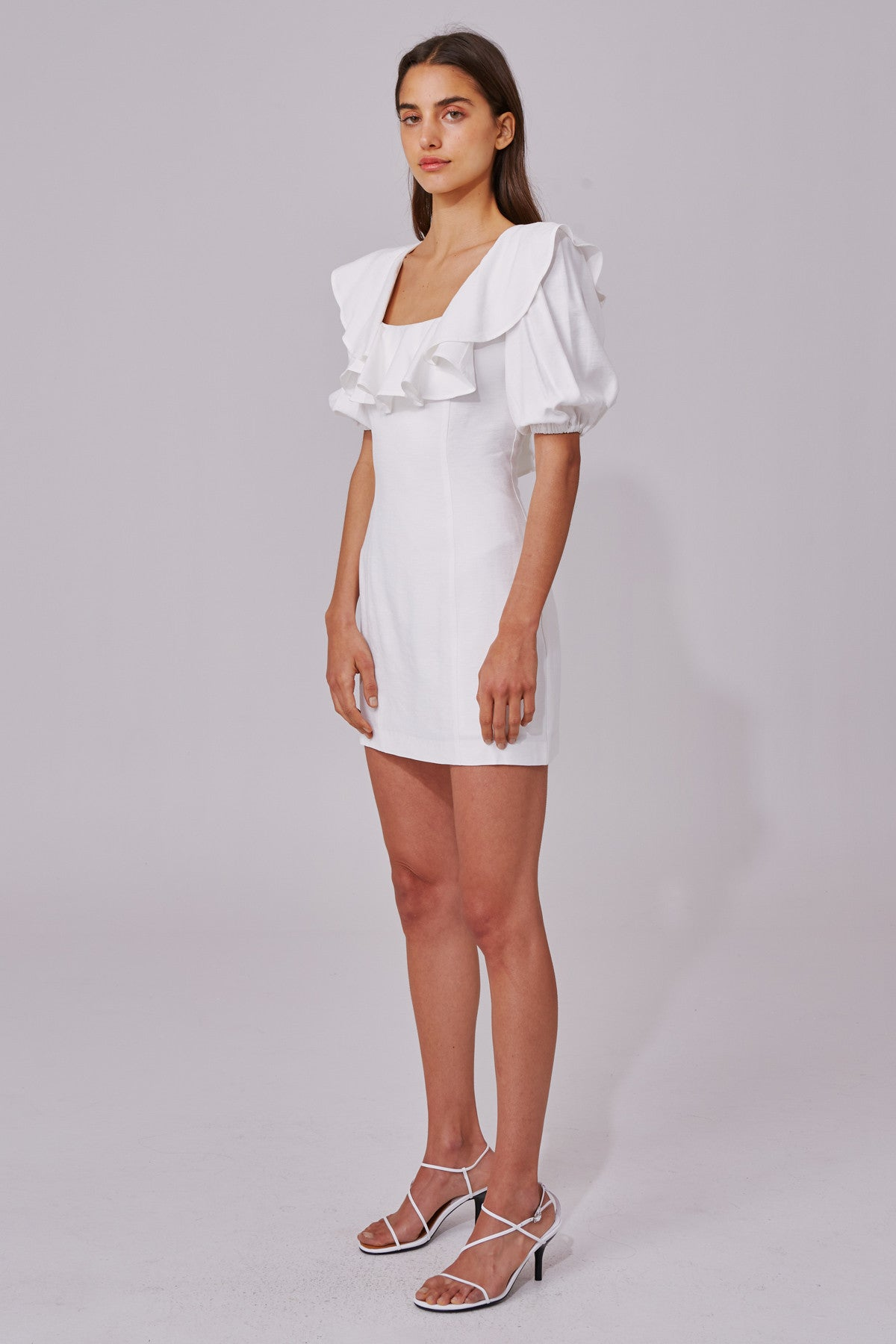 NEW PLACES SHORT SLEEVE DRESS ivory