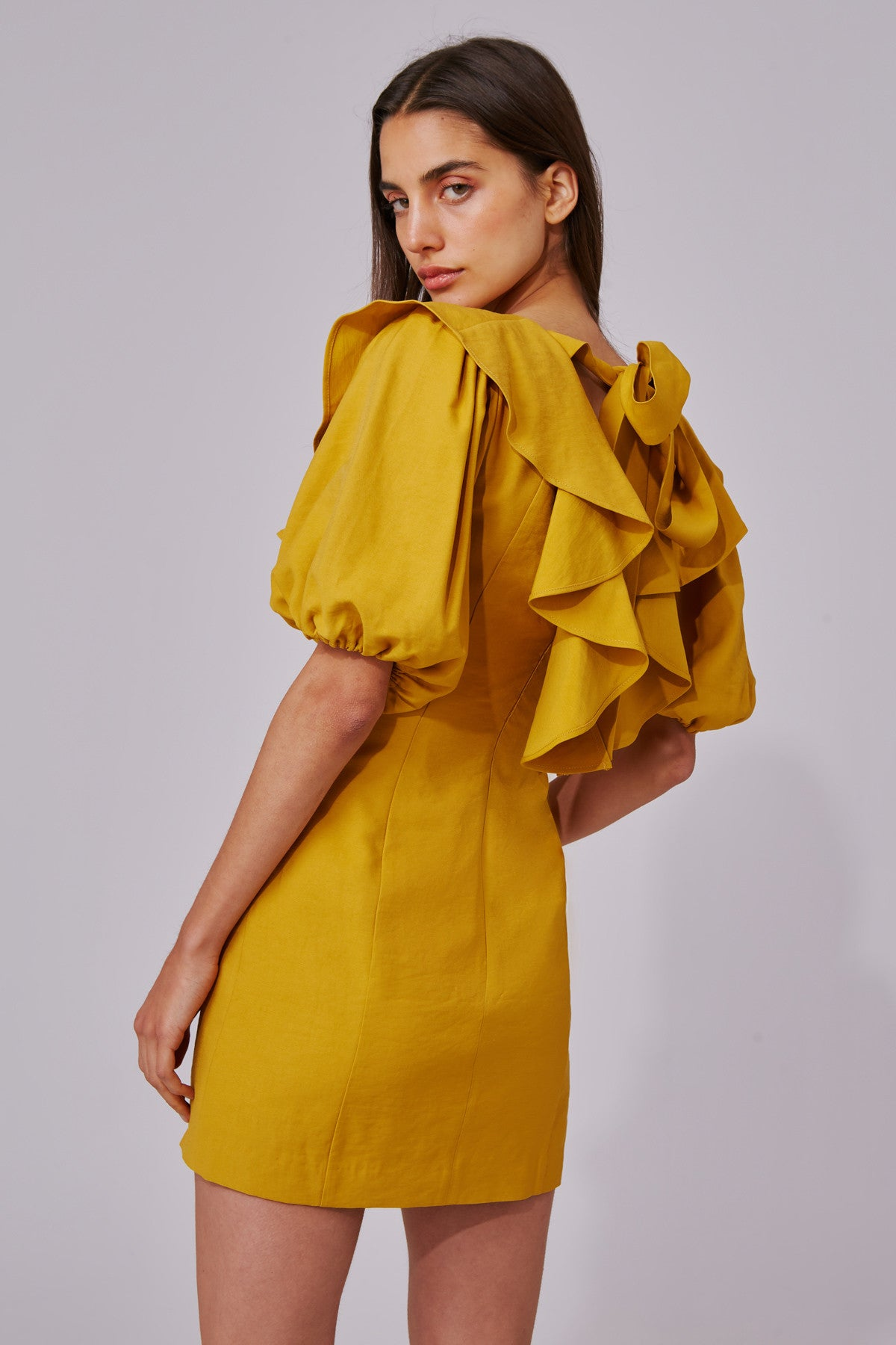 NEW PLACES SHORT SLEEVE DRESS marigold
