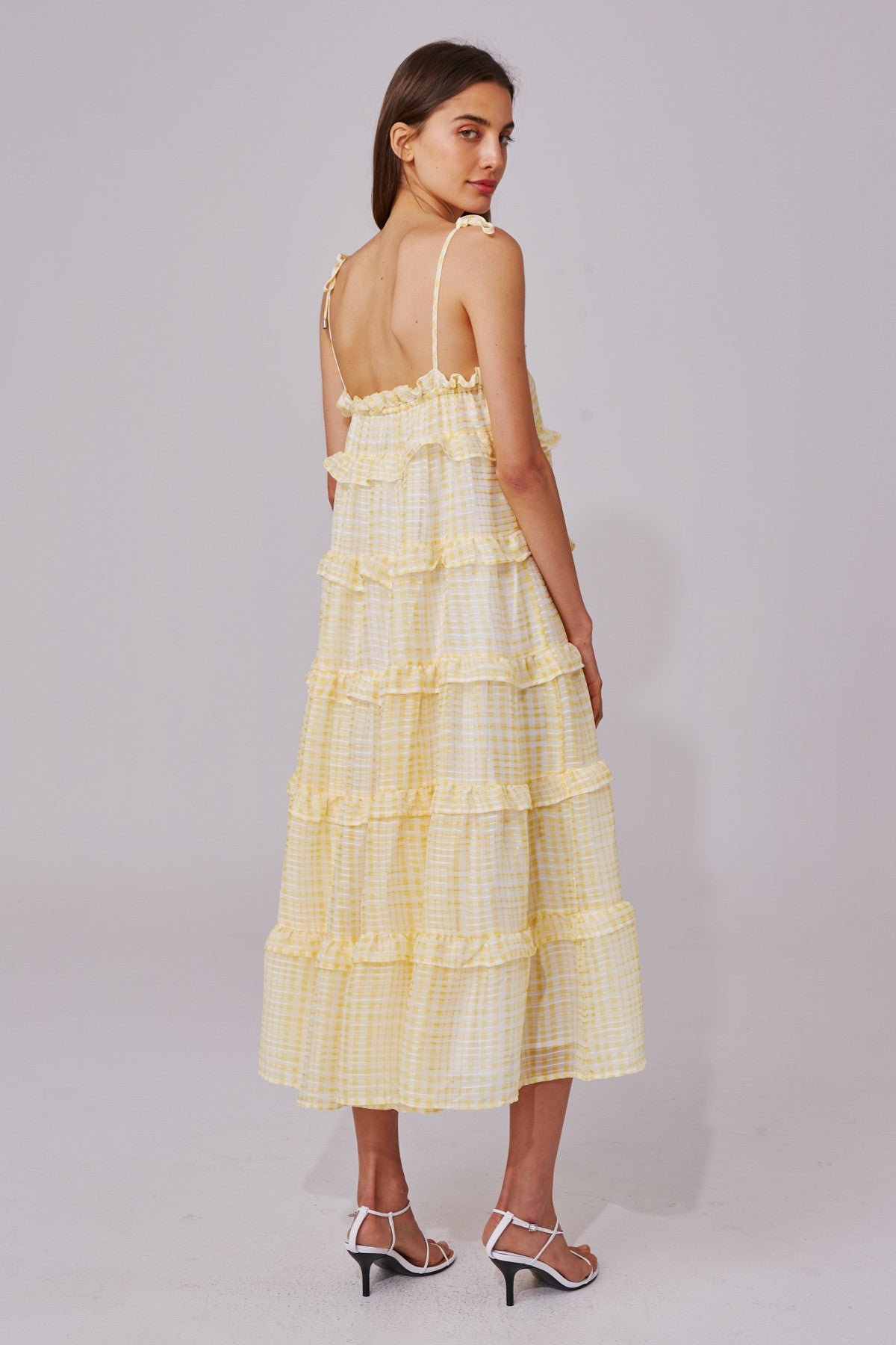 STEALING SUNSHINE DRESS yellow check