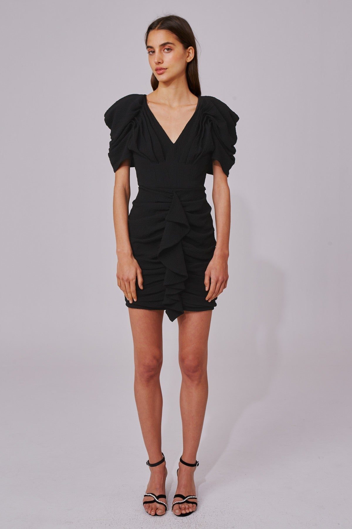 SOAKED SHORT SLEEVE DRESS black