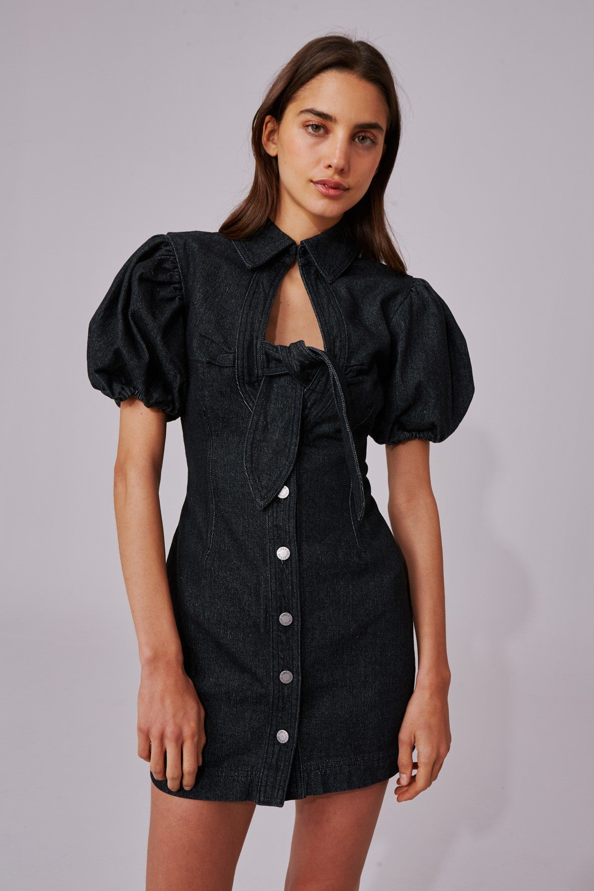 COMPARISON DRESS black denim