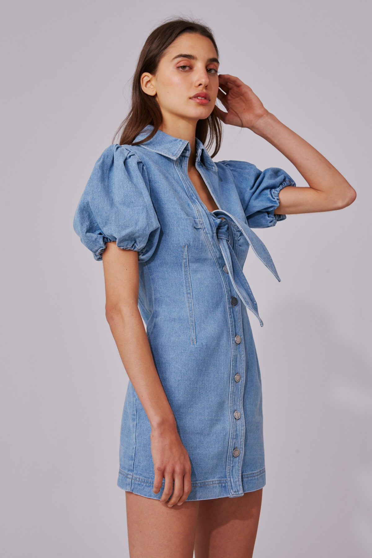 COMPARISON DRESS blue denim