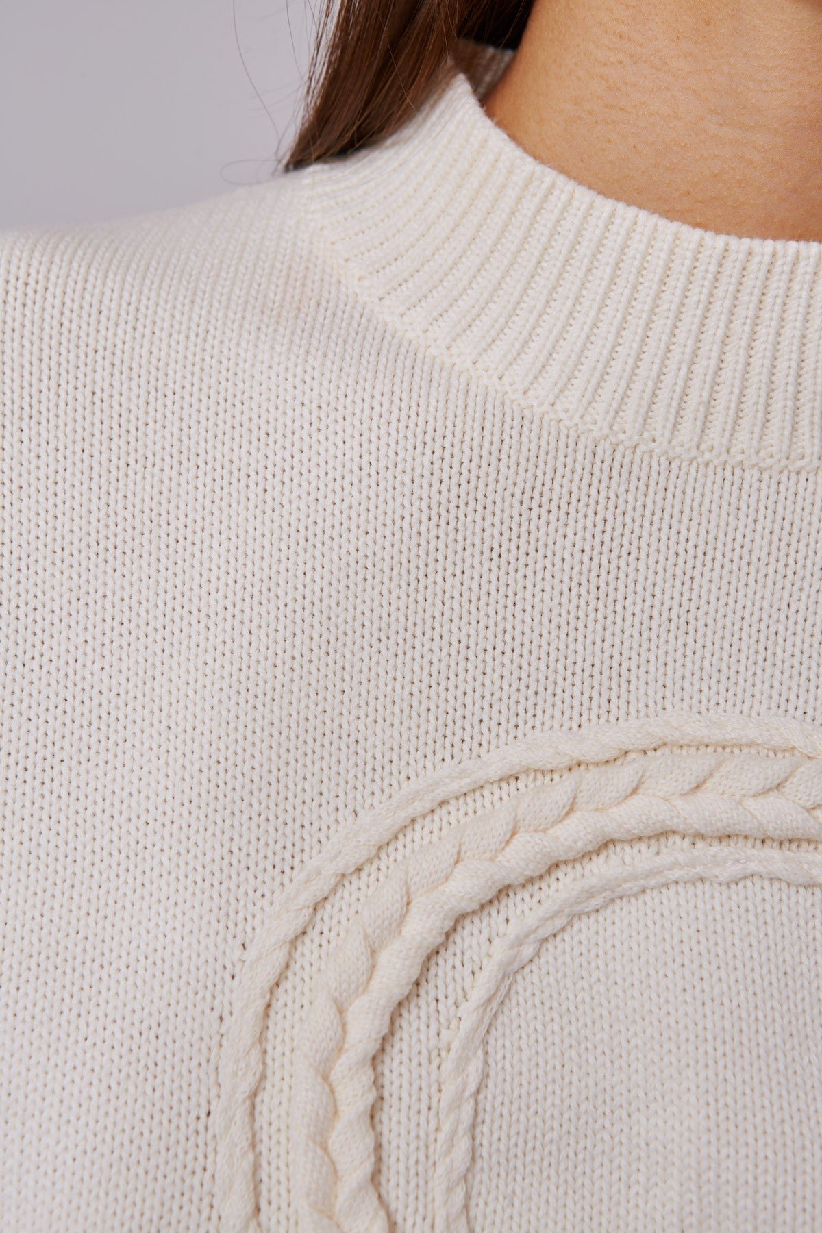 CORRELATIVE KNIT JUMPER ecru