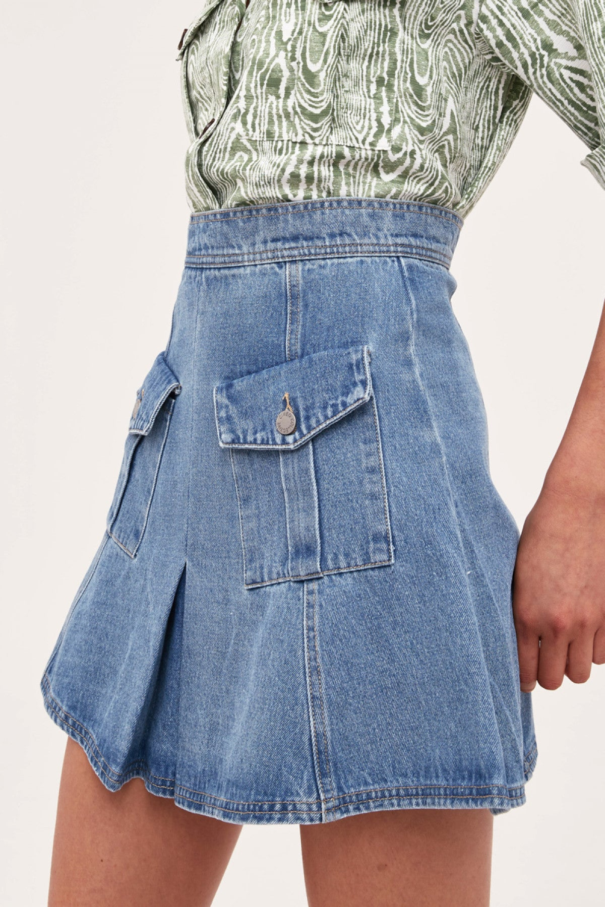 PERIPHERAL SKIRT blue denim
