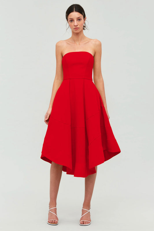BEYOND CONTROL DRESS red
