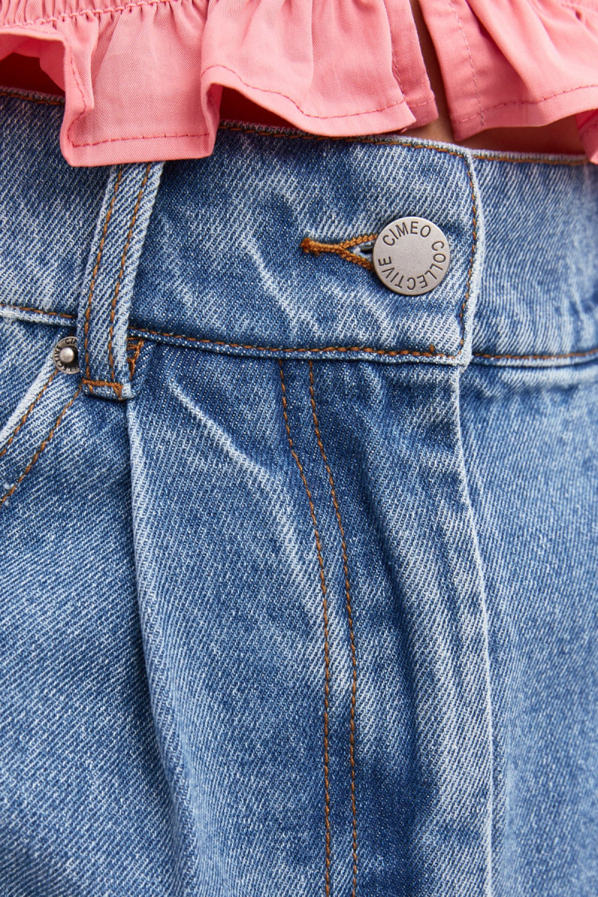 PERIPHERAL SHORT blue denim