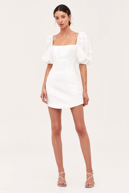 OVER AGAIN SHORT SLEEVE DRESS ivory