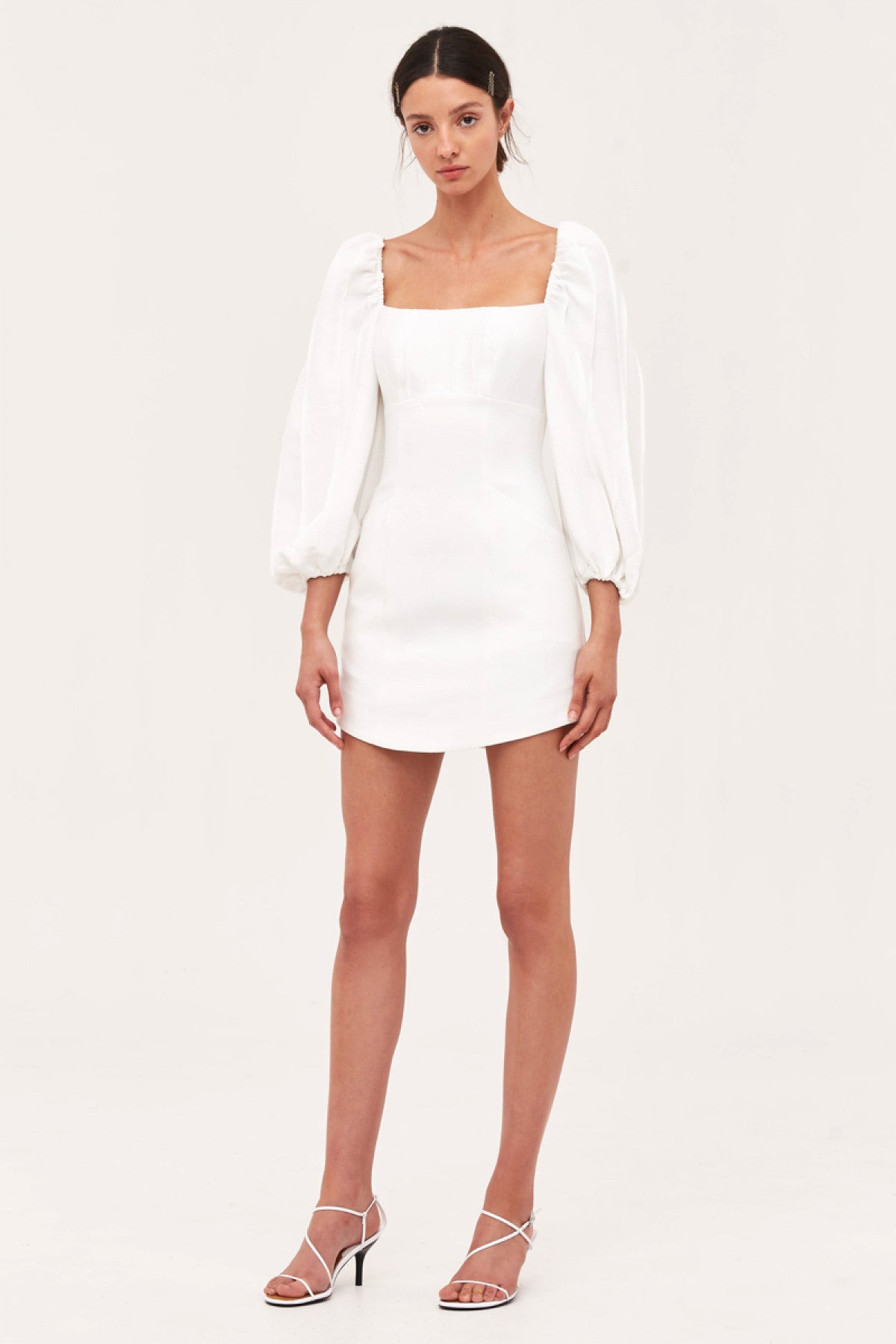 OVER AGAIN LONG SLEEVE DRESS ivory