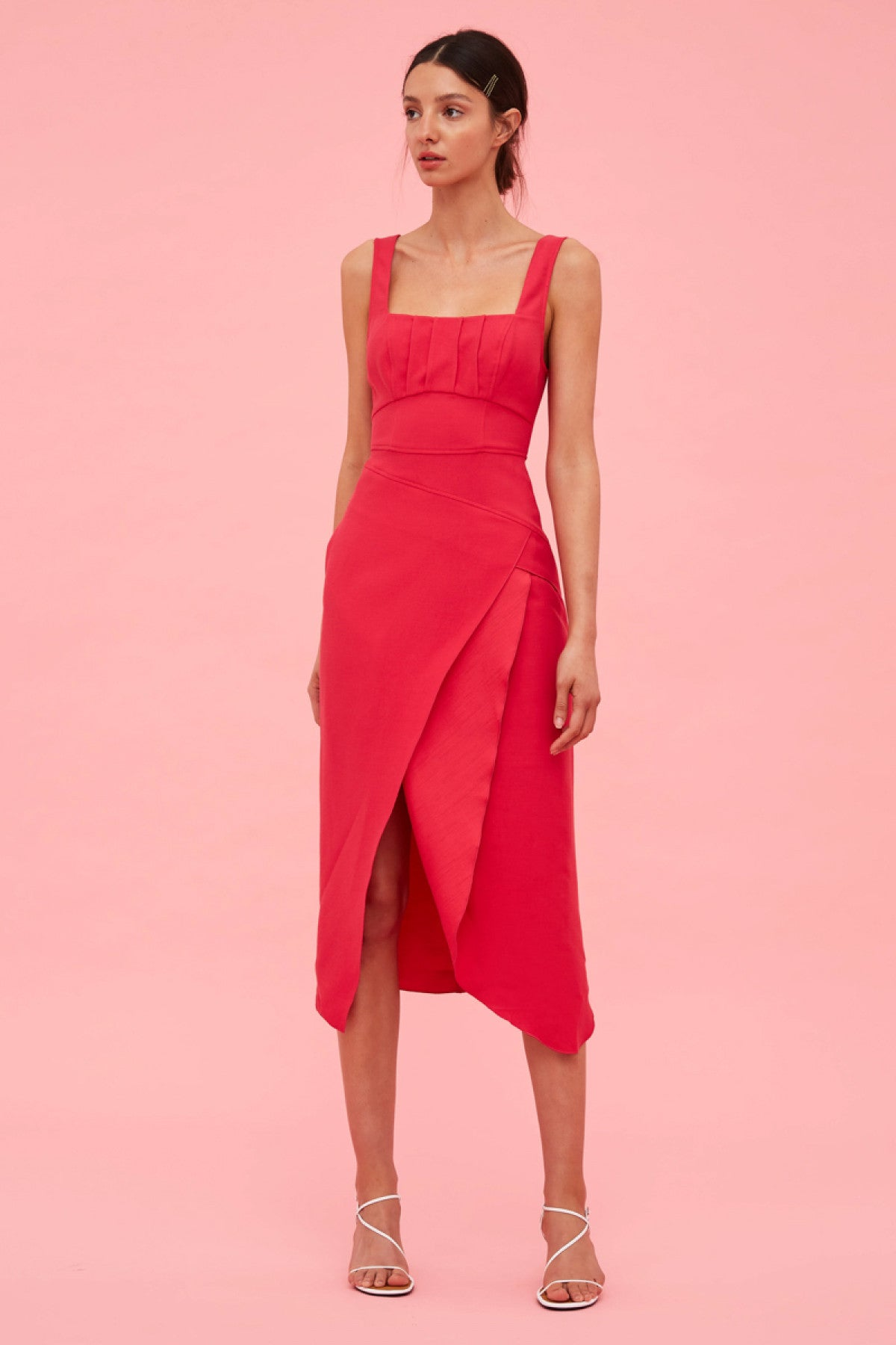OVER AGAIN DRESS fuchsia