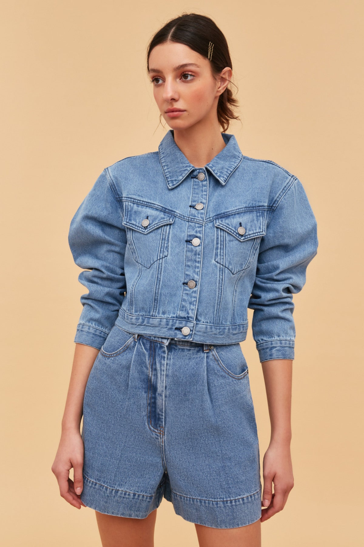 PERIPHERAL JACKET blue denim
