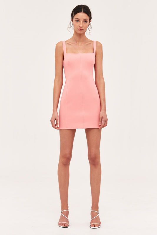 CONSUMED MINI DRESS coral
