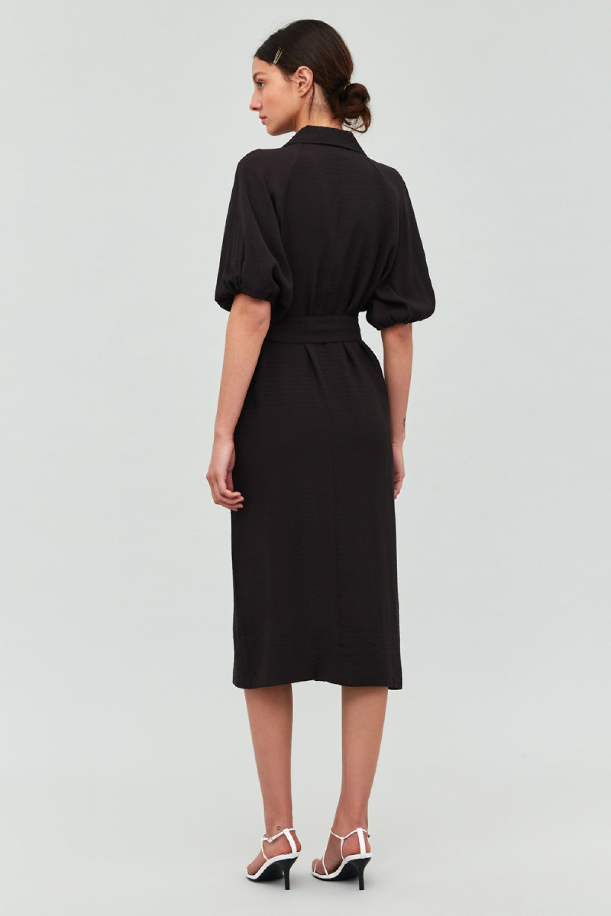 GO ON MIDI DRESS black