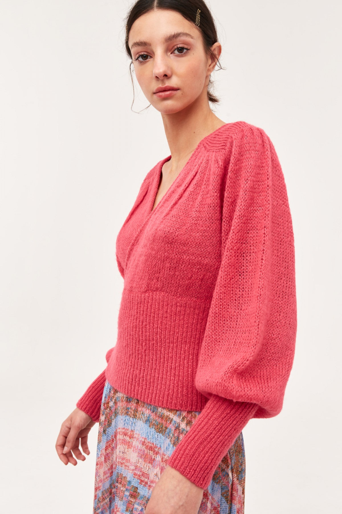 LOVE STRONG KNIT TOP pink