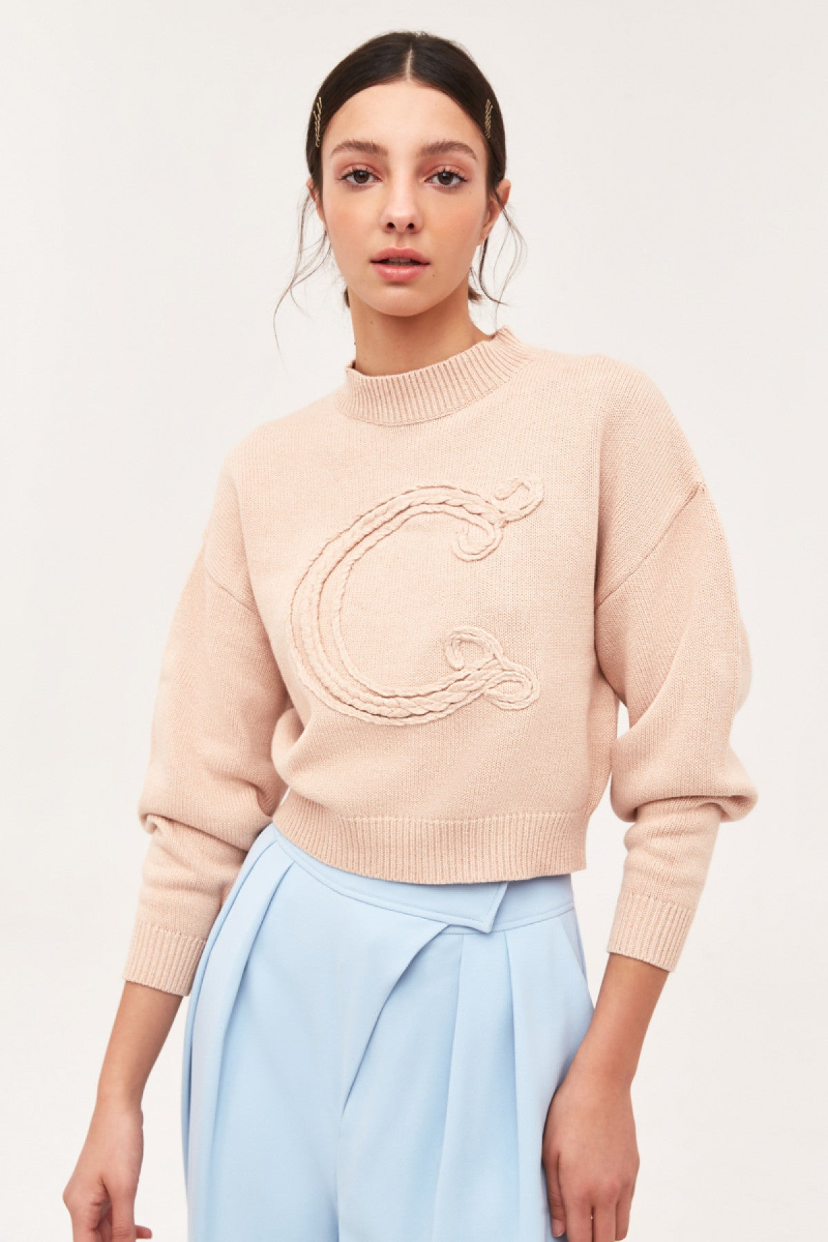 WHAT WE HAD KNIT JUMPER beige marle