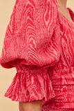 EARLY ON MINI DRESS pink woodgrain
