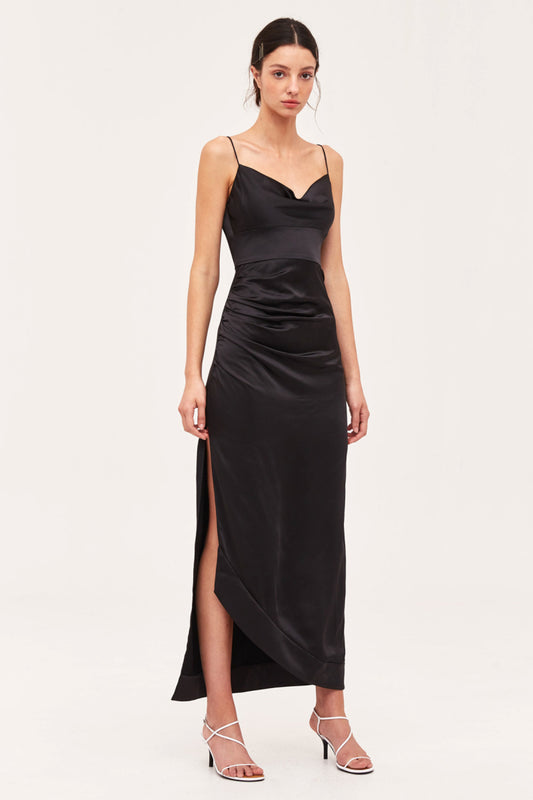 BLINDFOLD GOWN black