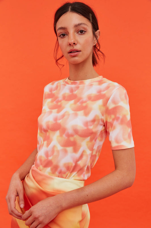 WHAT ELSE T-SHIRT vermilion ombre