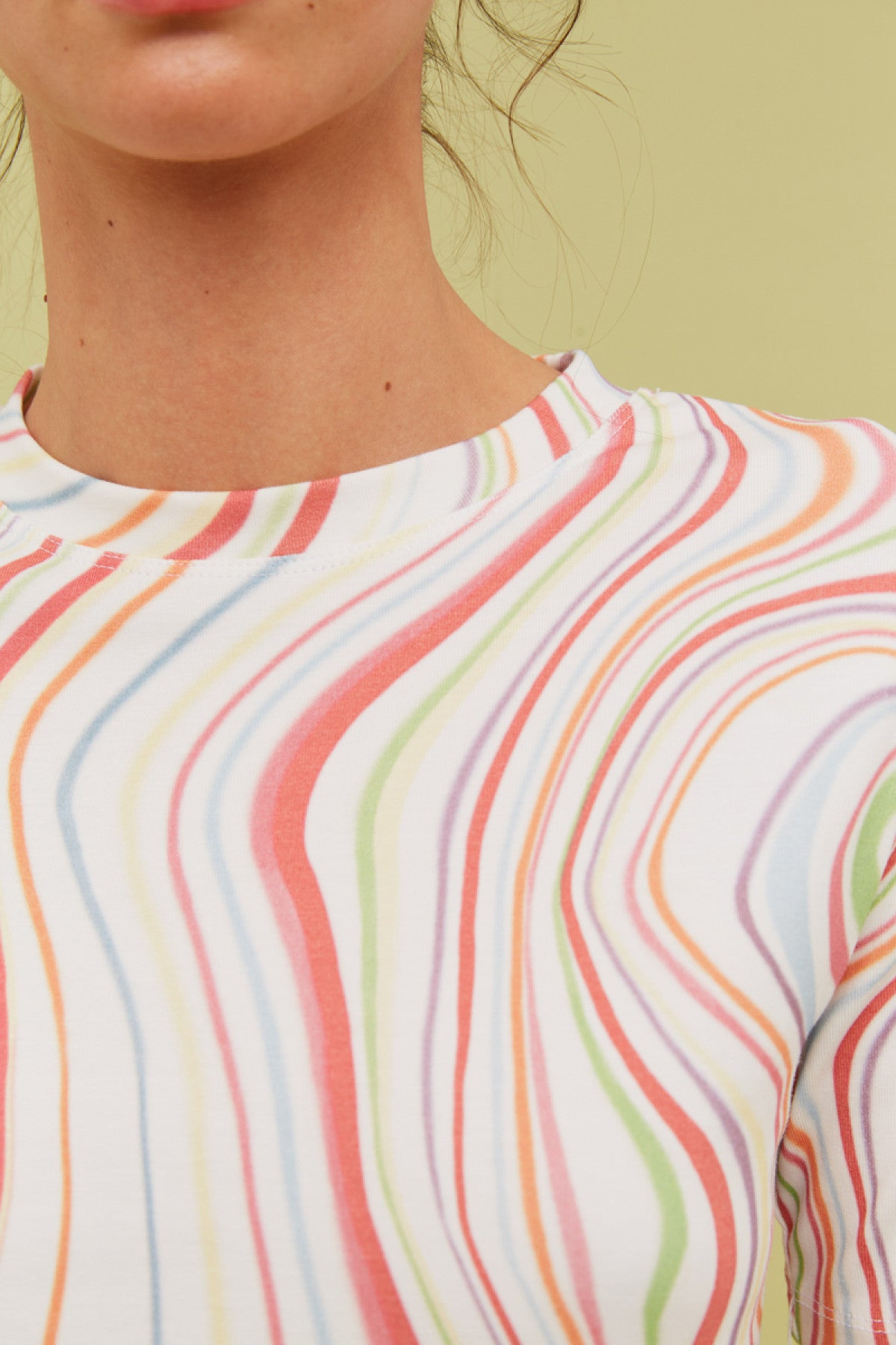 SHOW OFF T-SHIRT ivory rainbow