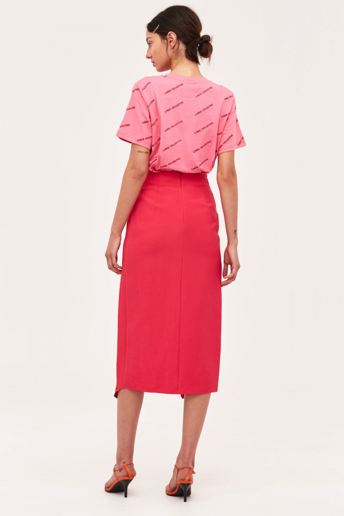 OVER AGAIN SKIRT fuchsia