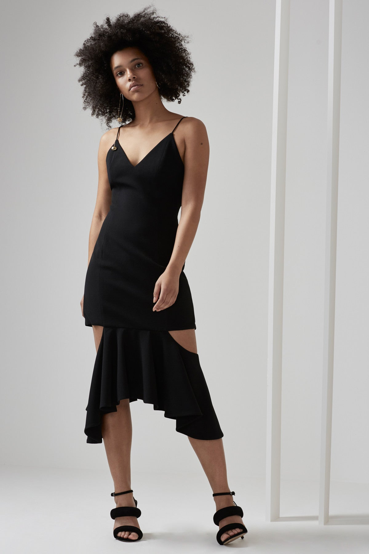 ENFOLD DRESS black