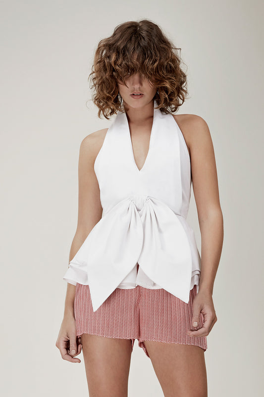 CONQUER SHIRTING TOP white