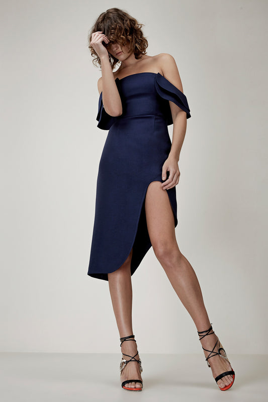 FIRST IMPRESSION DRESS navy