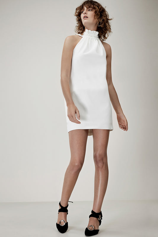 OUT OF LINE MINI DRESS ivory
