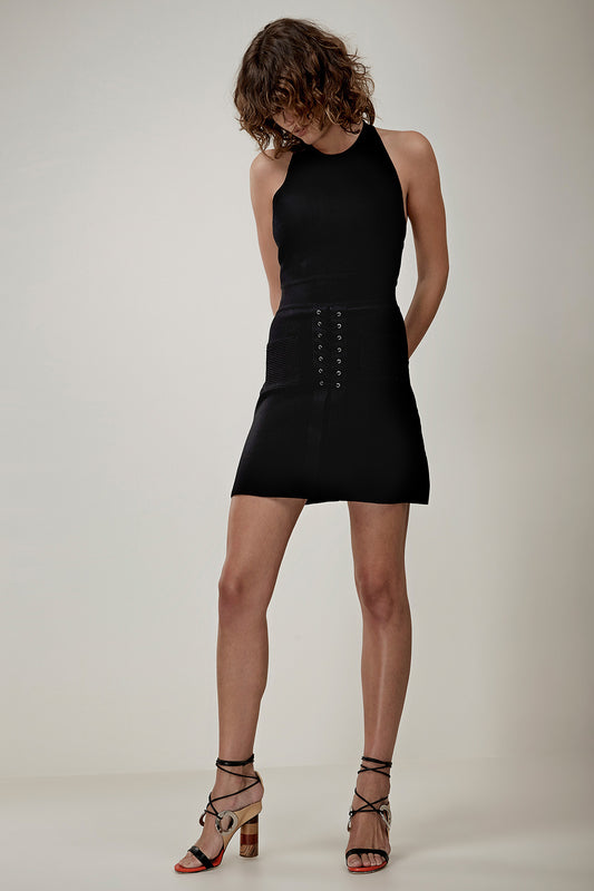 REBOUND KNIT DRESS black