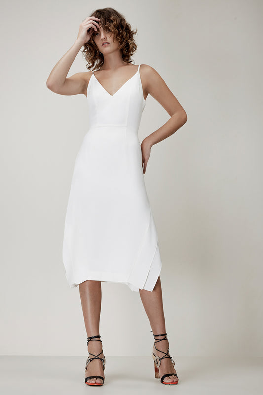 SHADOW DRESS ivory