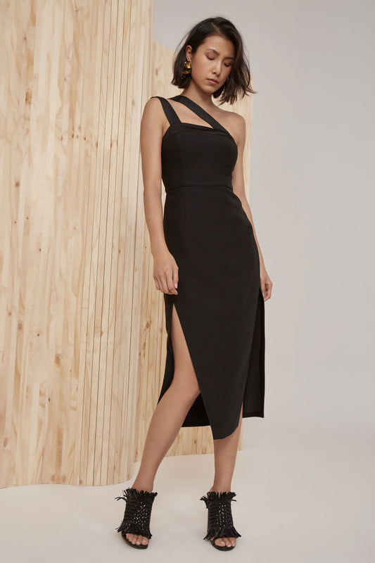 BOUND TOGETHER DRESS black