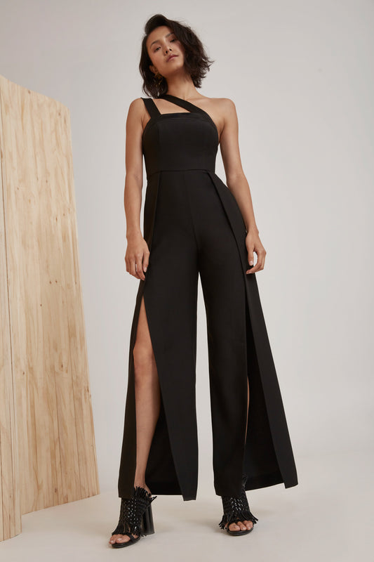 BOUND TOGETHER JUMPSUIT black