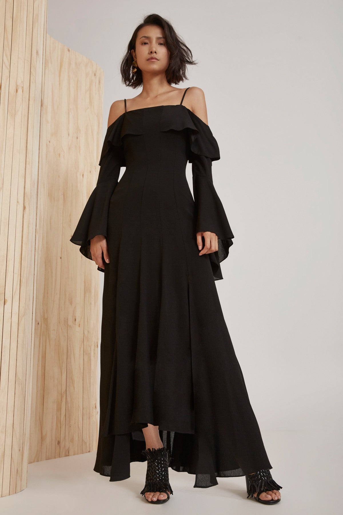 COMPOSE FULL LENGTH DRESS black