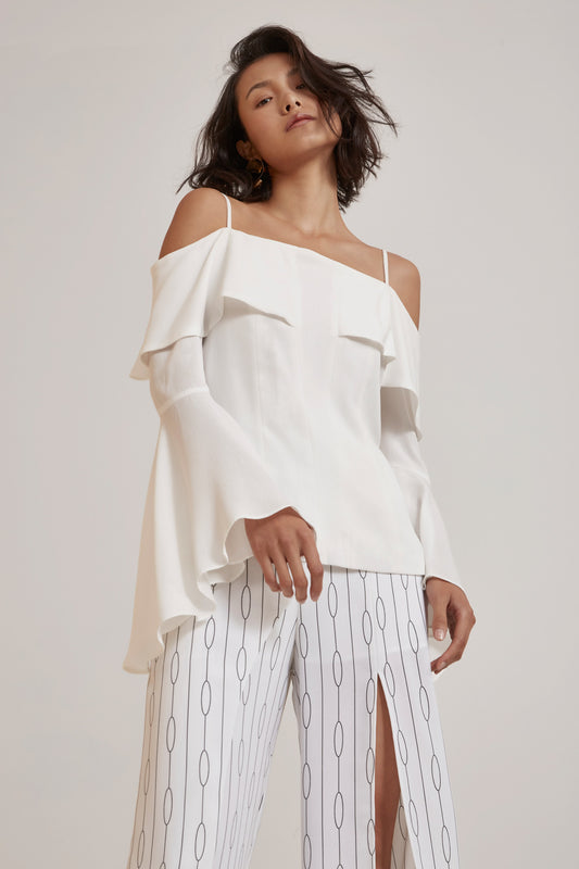 COMPOSE LONG SLEEVE TOP ivory