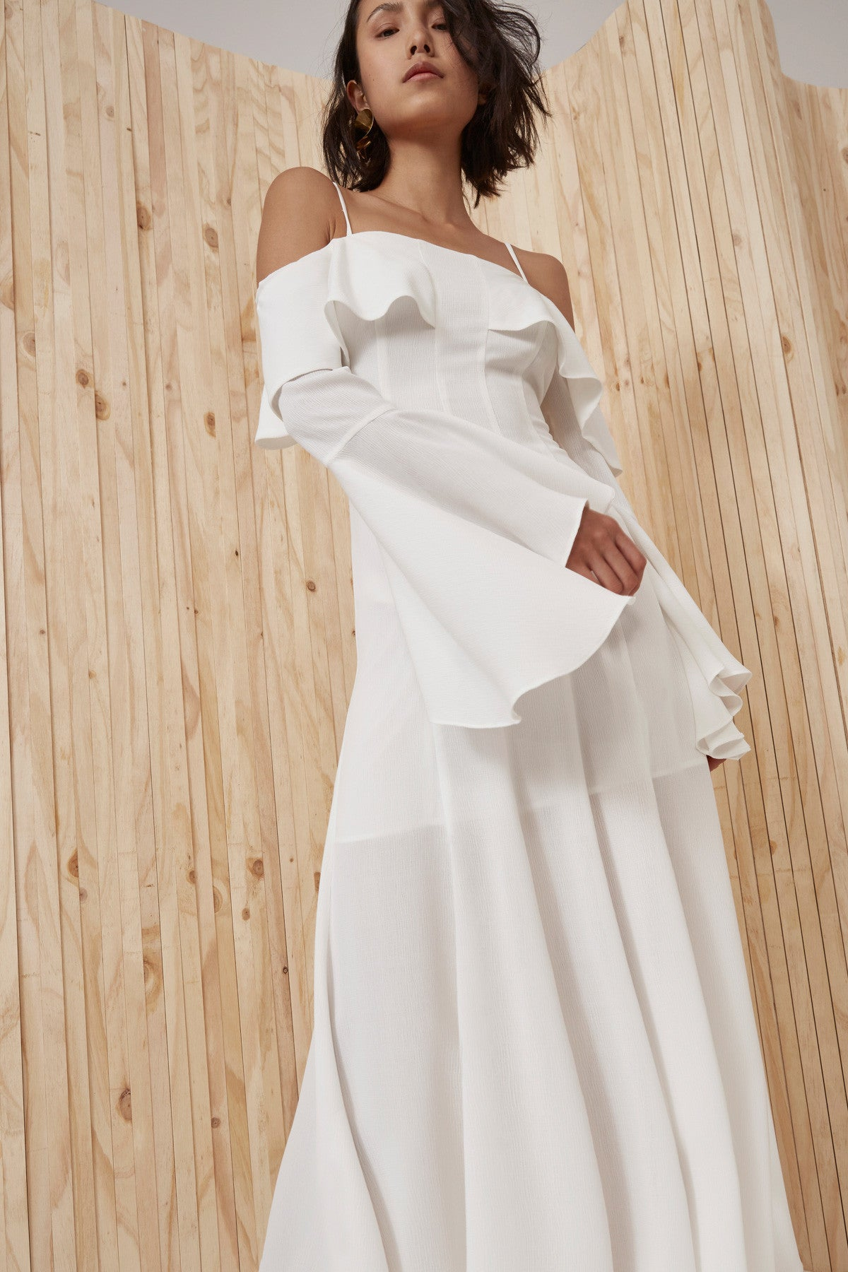 COMPOSE FULL LENGTH DRESS ivory