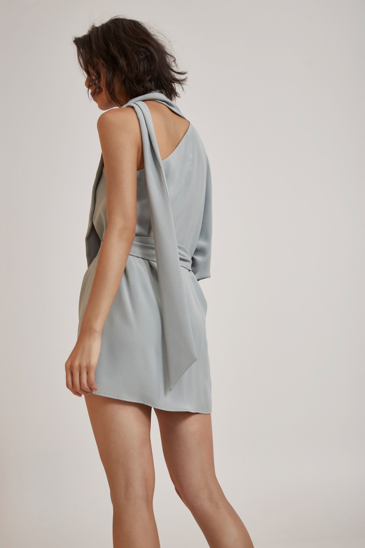 EVERLASTING ONE SHOULDER DRESS seafoam
