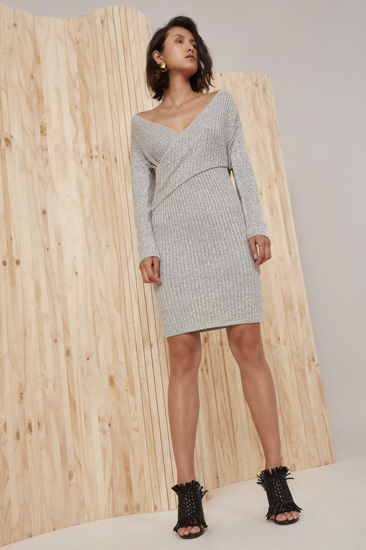 EVOLUTION KNIT DRESS marle grey