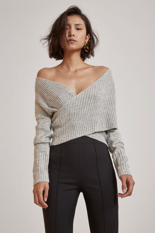 EVOLUTION KNIT TOP marle grey